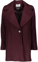 Kensie Merlot Wool-Blend Boyfriend Coat
