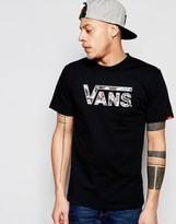 Vans Coasters Logo T-shirt In Black V2ogj15