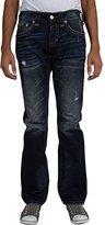Rock Revival Mens Evan Alternative Straight Jeans,