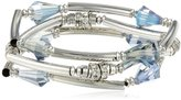 """Kenneth Cole New York """"Marquis Stone"""" Faceted Bead Stretch Bracelet Set, 7.5"""""""