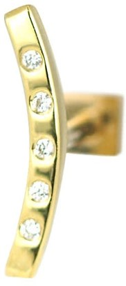 Lena Cohen Fine Jewellery 18K Yellow Gold Curved To Helix Diamond Stud
