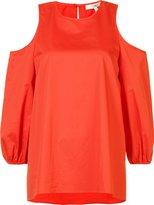 Tibi cold-shoulder blouse - women - Cotton - 2