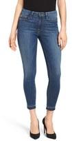 Good American Good Legs Crop Released Hem Skinny Jeans