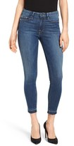 Good American Women's Good Legs Crop Released Hem Skinny Jeans