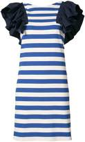Sea ruffle trim striped dress