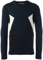 Neil Barrett tricolour jacquard jumper - men - Nylon/Wool/Alpaca - S