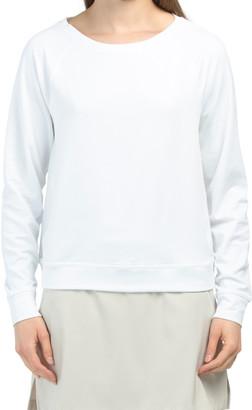 Crewneck Long Sleeve Fleece Top