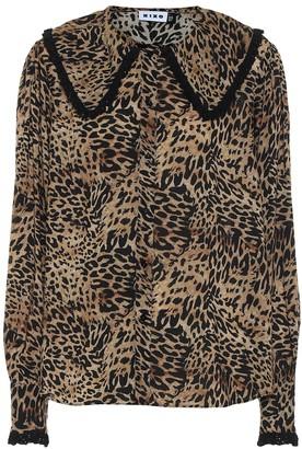Rixo Misha leopard-print blouse