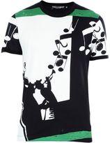 Dolce & Gabbana Green Multi Musical Print T-shirt