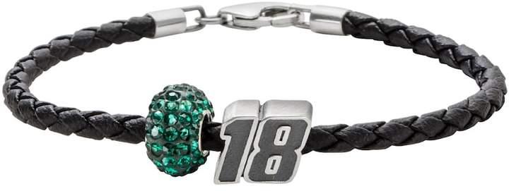 "Insignia Collection NASCAR Kyle Busch Leather Bracelet & ""18"" Bead & Crystal Bead Set"