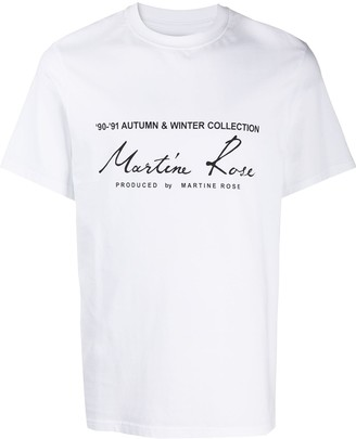 Martine Rose logo printed T-shirt