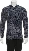 Christian Dior 2015 Script Print Button-Up Shirt