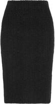 Alexander McQueen Frayed Tweed Skirt - Black