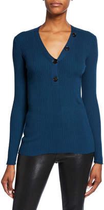 Jason Wu V-Neck Merino Wool Knit Sweater