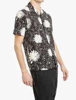 Junya Watanabe Black Flower-print Short-sleeved Shirt