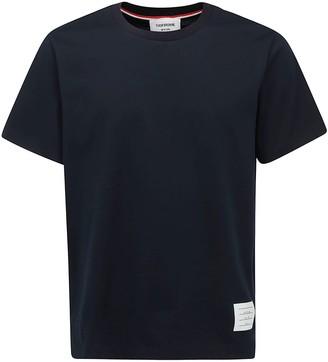 Thom Browne Logo Patch Crewneck T-Shirt