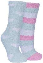 Trespass Womens/Ladies Snuggie Fluffy Tube Socks (2 Pair Pack)