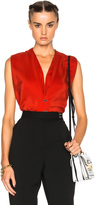 Lanvin Silk V Neck Blouse