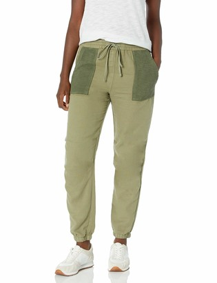 Monrow Women's Mesh Mixed Jogger W/Patch Pockets