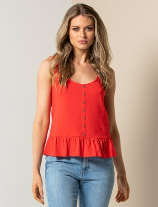 Forever New Juliana Button-Front Tank - Red - l