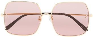 Stella Mccartney Eyewear gold tone Pink square metal sunglasses