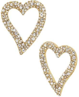 BaubleBar Lyra Pavé Heart Earrings