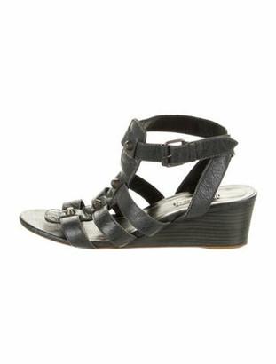Balenciaga Leather Gladiator Sandals Blue