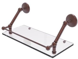 Allied Brass Prestige Monte Carlo 18 Inch Floating Glass Shelf with Gallery Rail
