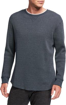 Vince Men's Yarn-Dyed Crewneck Thermal Shirt