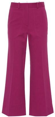 Victoria Beckham Cotton-blend wide-leg pants