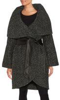 Badgley Mischka Sloan Oversized Wool-Blend Coat