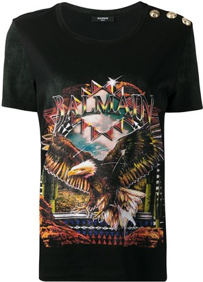 Balmain graphic print relaxed-fit T-shirt