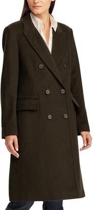Lauren Ralph Lauren Double Breasted Wool Blend Coat