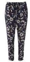 Dorothy Perkins Womens Navy Floral Trousers- Blue