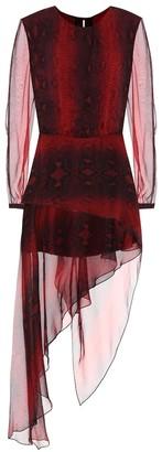 Amiri Printed silk midi dress