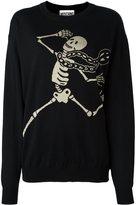 Moschino skeleton intarsia jumper - women - Polyester/Rayon/Wool/Virgin Wool - S