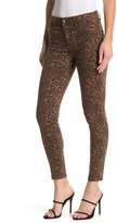 Tractr Julie High Rise Leopard Skinny Jeans