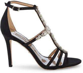 Badgley Mischka Bejeweled T-Strap Sandals