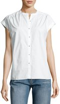 MiH Jeans Push Button-Front Shirt, White