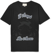 Gucci Slim-fit Embroidered Printed Cotton T-shirt