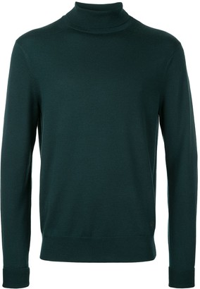 Kent & Curwen Roll Neck Fine Knit Jumper