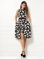 New York & Co. Eva Mendes Collection - Freya Flare Dress - Black Floral