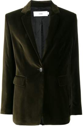 Closed single-breasted fitted blazer