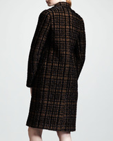 Lanvin Prince-of-Wales Three-Button Coat
