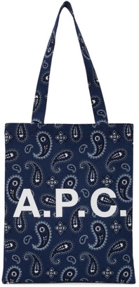A.P.C. Navy Lou Tote