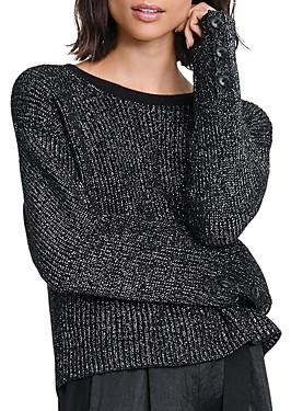 Rag & Bone Jubilee Metallic Ribbed-Knit Sweater