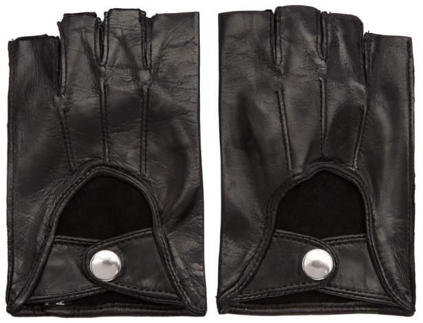 Ann Demeulemeester Black Joris Fingerless Gloves