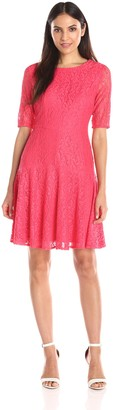 London Times Women's Long Sleeve with Drop Skirt