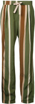 Roberto Collina striped trousers - women - Nylon/Acetate - XS