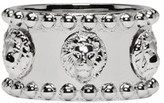 Versus Silver Allover Lion Ring